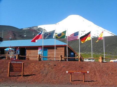 Osorno Volcano Ski lift Chile