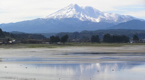 Calbuco Volcano at Llanquihue National Reserve Chile
