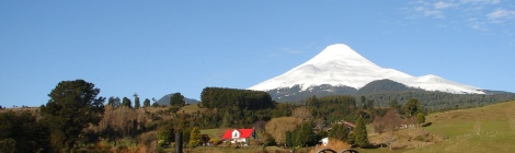 Farm near Osorno Volcano in Chile
