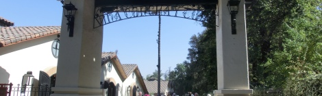Entrance to Concha y Toro vineyard, Chile
