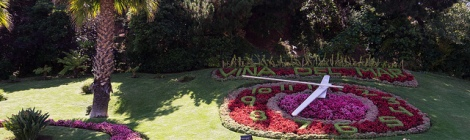 Flowers clock in Viña del MAr city Chile Patagonia Southern Land Expeditions