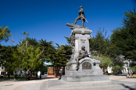 Memorial to Ferdinand Magellan Punta Arenas Chile