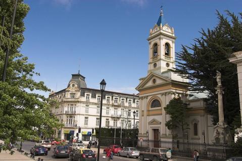 Punta Arenas port Chile