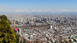 Santiago Chile from San Cristobal hill