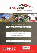 Prehospital Emergency Car for Outdoor Professsionals certificate Patagonia Southern Land Expeditions