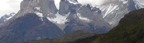 Route to the Torres del Paine National Park Chile