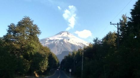 Villarrica Volcano in activity Chile