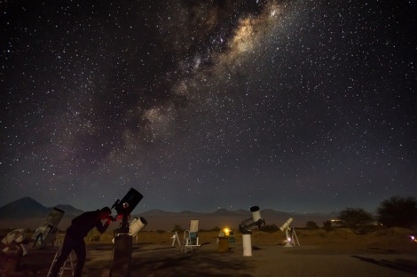 Star tour telescopes Atacama