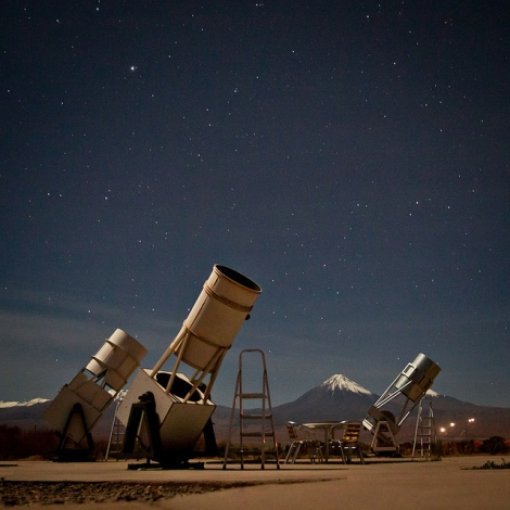 Stargazing telescope, Atacama Chile