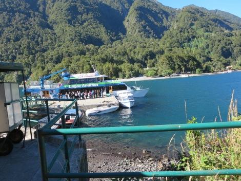 Todos los Santos Lake pier Chile