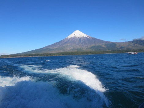 Todos los Santos lake view of Osorno Volcano