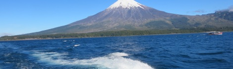 Todos los Santos lake view of Osorno Volcano