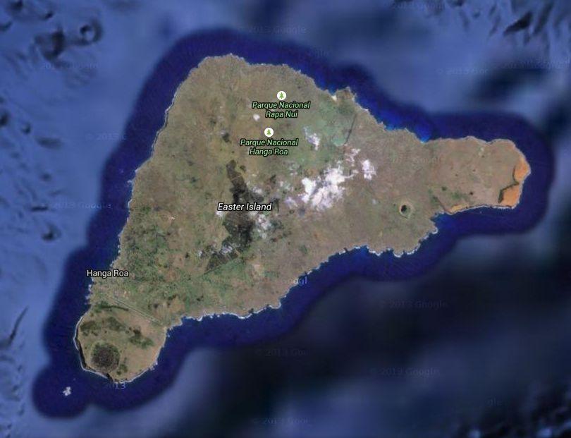 Easter Island Museum Poike Volcano Trek Moai Circuit - Easter island map