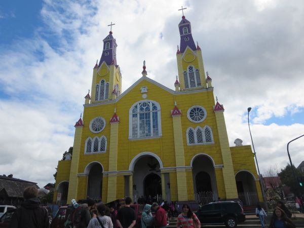 Church in Castro, Chiloe, Chile