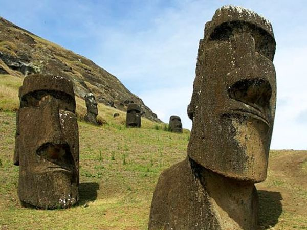 Moai quarry, Easter Island, Chile