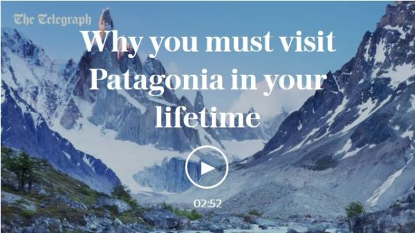 The Telegraph, UK: Visit Patagonia, Chile